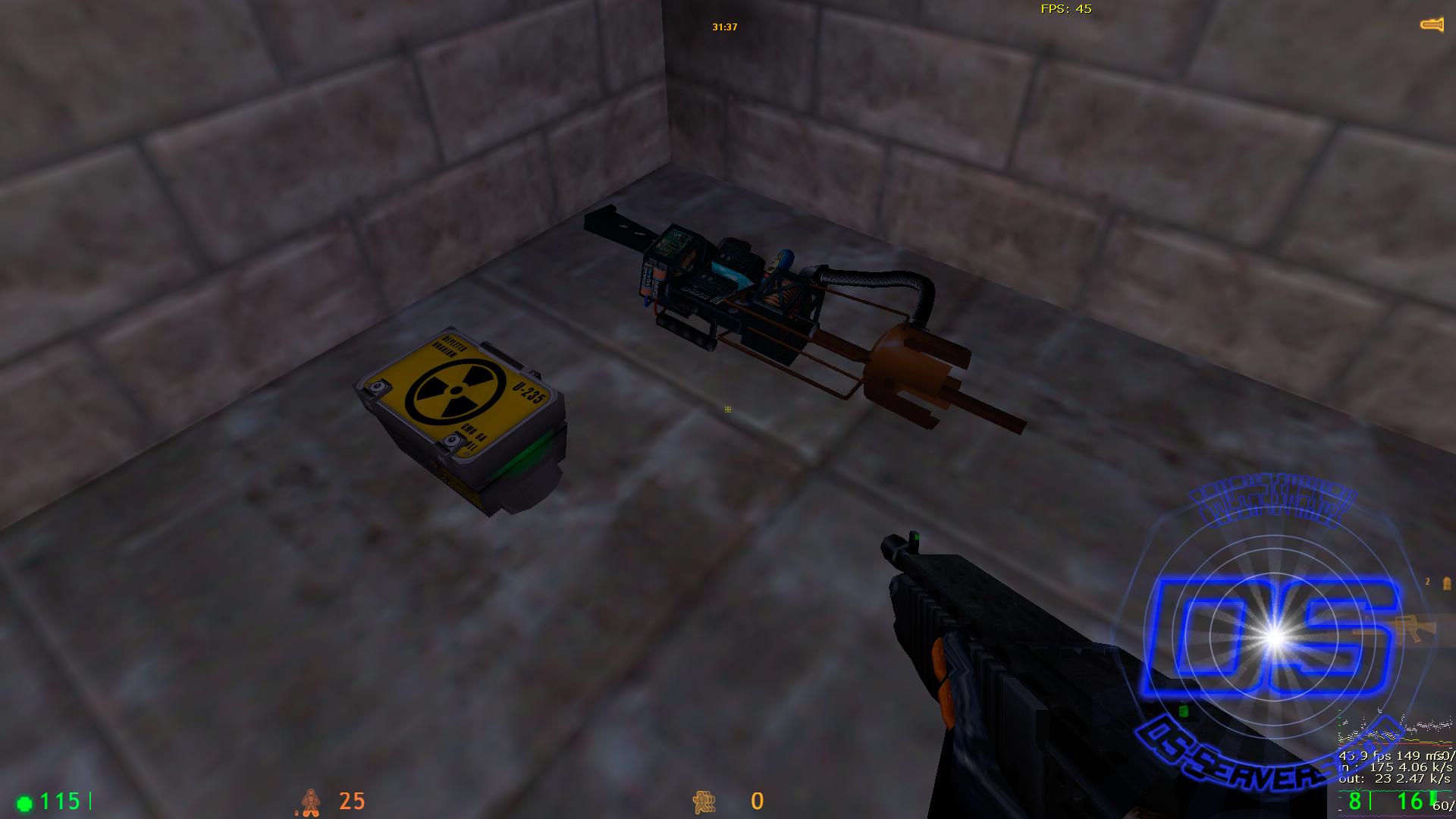 новый shotgun и gauss на карте crossfire_upgrade