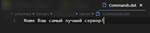 Изменение названия сервера!