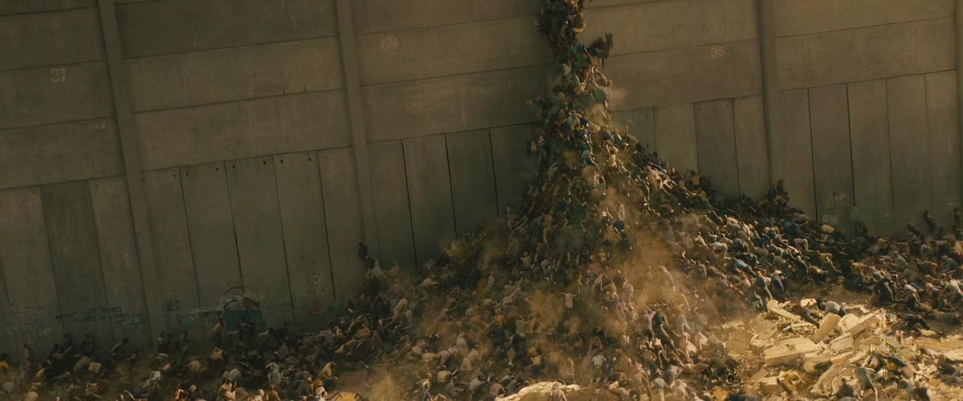Зомби забираются на стену стены (фильм «Война миров Z»)
